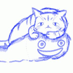 【お絵描き】愛猫さんに必ず奪われる〇〇。