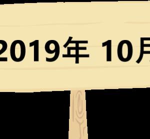 2019年 10月 運用報告