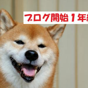 ブログ開始1年経過!PV・収益は?【犬】