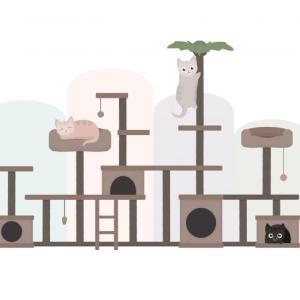 【猫と暮らす】木製キャットシェルフ・収納家具・日本製インテリア