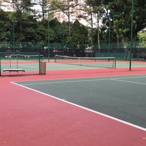 週末のテニス活動