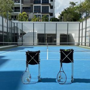 コンドのテニスコート利用禁止まで あと2日