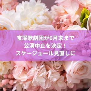 宝塚歌劇団が6月末まで公演中止を決定!スケージュール見直しに