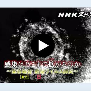 NHKスペシャル「感染はどこまで拡がるのか」(2月9日 21時〜)を観ました でも不安が高まっただけ 新型コロナウイルス肺炎