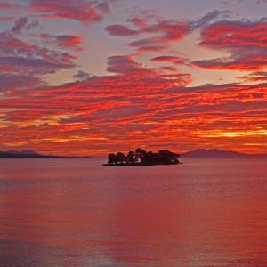宍道湖の夕焼け