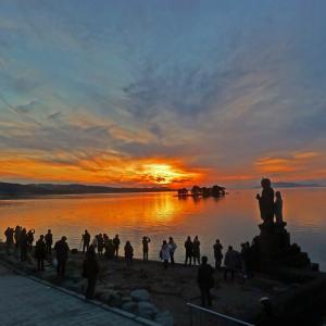 宍道湖の夕景