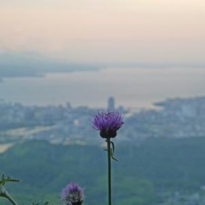 嵩山からの夕景