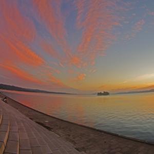 今日の宍道湖 夕景