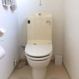トイレ掃除のために~床に置かない