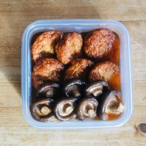 楽なおかず①~さつま揚げと椎茸の煮物