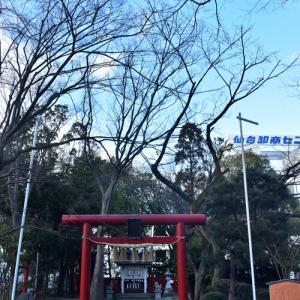 若林区卸町神社に参拝してきました。 1月22日(金)