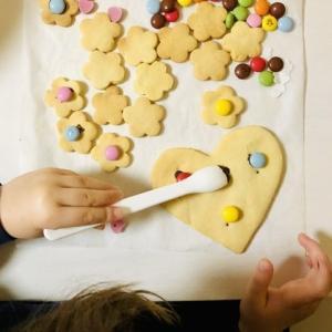 【バレンタイン】4歳が作る、簡単かわいいクッキー