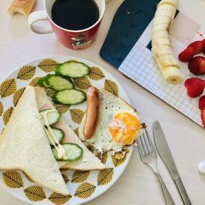 【自粛生活】朝ごはんをしっかり食べる!!