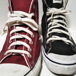 スニーカーを比較してみたっ! Converse VS. Vans