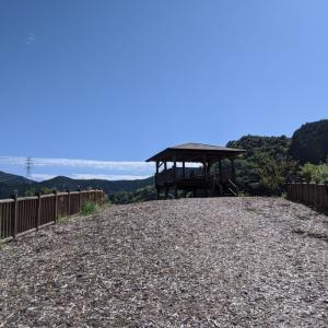 遠州森町太田川ダム湖が一望できる「かわせみ湖彩り岬公園」に行ってきた!