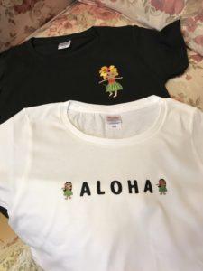 世界に一枚だけのTシャツ出来上がりました。