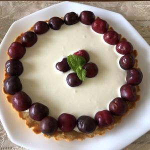 【みなぎる健康レシピ0008】安眠できるヘルシーデザート!さくらんぼとクリームチーズの大豆粉タルト