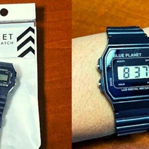 ダイソーの100円時計ブループラネット、機能や合わせ方をレビュー