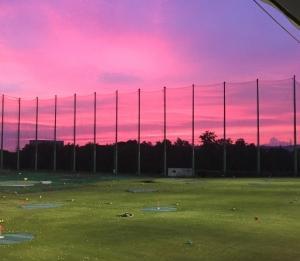 トヨタゴルフ 夏の夕焼け空