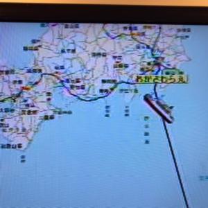 ◆船酔率80%の帰り、アマチュア無線運用も遅れ