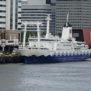 ◆一泊4日東海汽船さるびあ丸小笠原初出航 東京湾南下 この先揺れそう。。