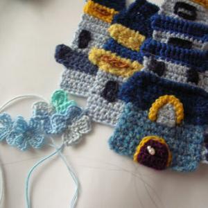 編みあみアップリケの続きと、陶芸展