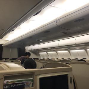 世界一周第2レグ 世界一周航空券の1本目。超短距離路線のビジネスクラス SQ119 20191006