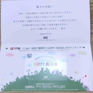 中広(2139)株主優待 クオカード(優待品+配当金3.38%)