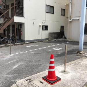 駐車場のポール工事終了!広島市のお寺