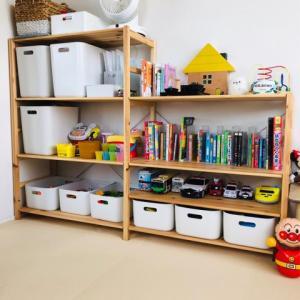おもちゃ部屋!収納はほぼ無印!