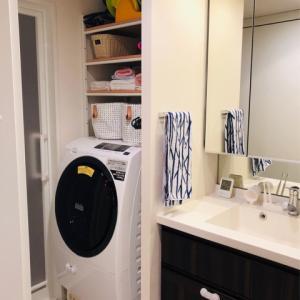 バスルームはマグネット収納だらけ!洗濯物は浴室乾燥で♡