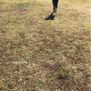 帰省♡公園の広さが最高〜(*´∀`*)そして、マンションと一軒家のベビー対策に違いが。。