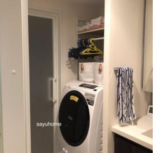 洗濯機の上を改善☆今あるものだけで、使いやすく♪( ´▽`)