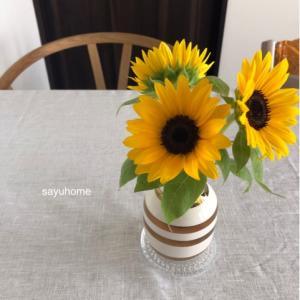 夏らしいリビング(*´∇`*)元気が出る黄色がいっぱい♡