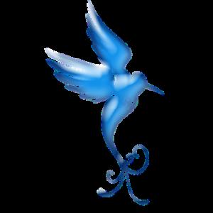 [クロスステッチ刺繍]  青い鳥 再開