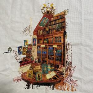 【クロスステッチ刺繍】作品『The Library』の作成記録