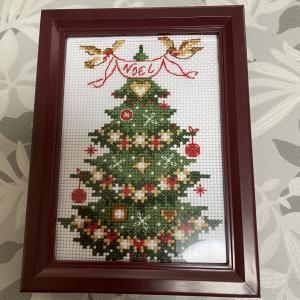 【クロスステッチ刺繍】クリスマスツリー その2 完成。