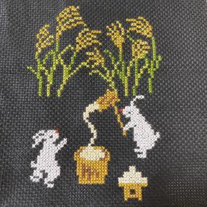 【フェリシモ・クチュリエ】ウサギのお月見