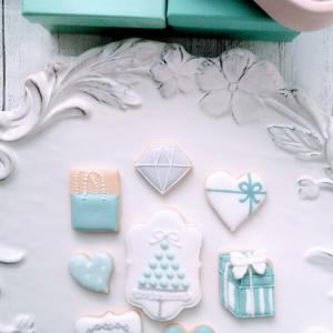 Tiffany blueのアイシングクッキー