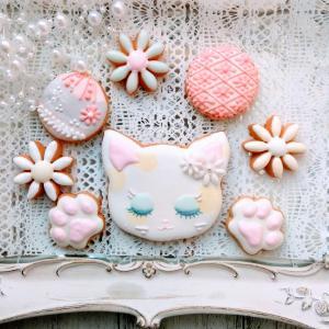 【募集】7/12 残1名様 Cute catのアイシングクッキー 練馬区アイシングクッキー教室