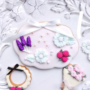 【レポ】アイシングクッキーでお花摘み 練馬区アイシングクッキー教室