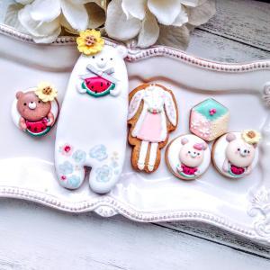 【レポ】オンライン 夏くまのアイシングクッキー 練馬 駅近 お菓子教室
