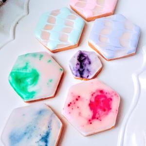 【新規募集】涼しさ感じるクリアーカラー&冷たい大理石風アイシングクッキー 練馬 駅近 お菓子教室