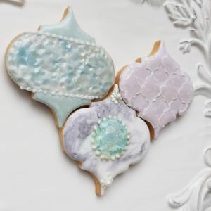 モロッカンタイルのアイシングクッキー