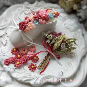【レッスンレポート】お砂糖のお花のフラワーアレンジメント