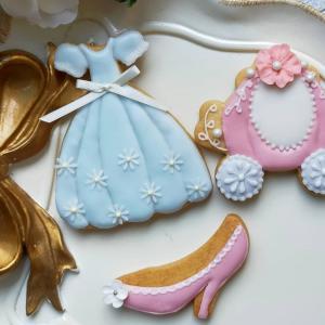 【募集】7月24日 10:00〜 残1名様 シンデレラのアイシングクッキー