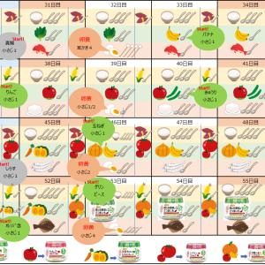 【4m】ゴックン期の離乳食スケジュール(5ヶ月から卵黄&2回食対応)を作ってみました。