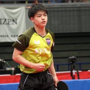 宇田幸矢(18歳)全日本卓球選手権大会、男子シングルス初優勝。