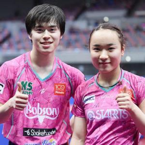 全日本卓球選手権大会、混合ダブルス 優勝 森薗、伊藤組。