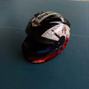 娘の銀子の、バイクヘルメット。